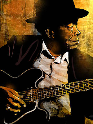 Painting - John Lee Hooker by Paul Sachtleben