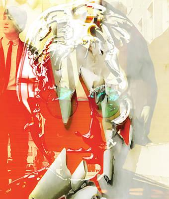 Hip Mixed Media - John Lennon Art by Marvin Blaine