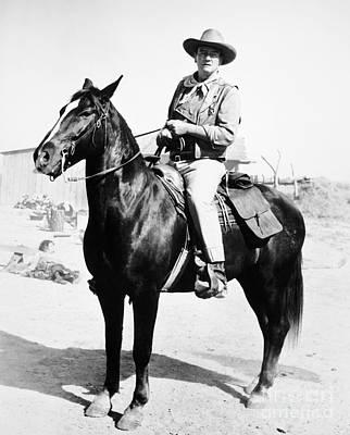 Cowboy Hat Photograph - John Wayne (1907-1979) by Granger