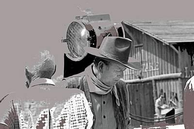 John Wayne And Director Howard Hawks Alienated Rio Lobo Old Tucson Arizona 1970-2016 Art Print
