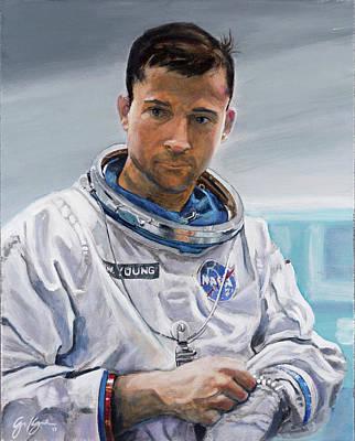 Painting - John Young by Simon Kregar