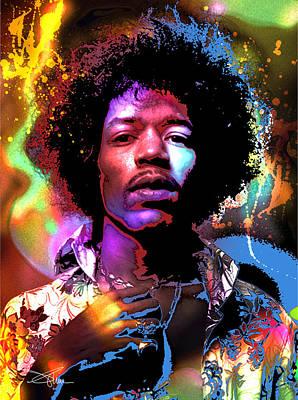 Decorativ Painting - Johnny Allen Hendrix by Piro