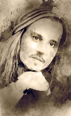 Johnny Depp Art Print Art Print