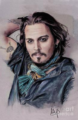 Johnny Depp Mixed Media - Johnny Depp by Melanie D