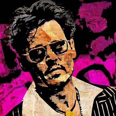 Johnny Depp Mixed Media - Johnny Depp by Otis Porritt