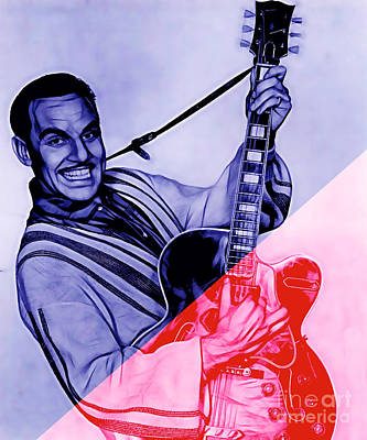 Johnny Otis Collection Art Print by Marvin Blaine