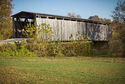 Photograph - Johnson Creek Covered Bridge by Jack R Perry