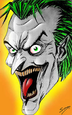 The Dark Knight Drawing - Joker by Salman Ravish