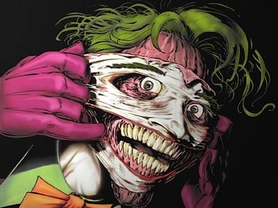 Graphic Digital Art - Joker by Super Lovely