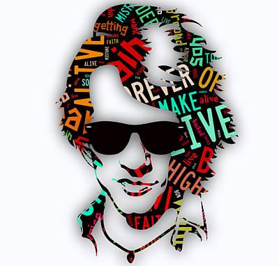 Jon Bon Jovi Mixed Media - Jon Bon Jovi It's My Life Lyrics by Marvin Blaine
