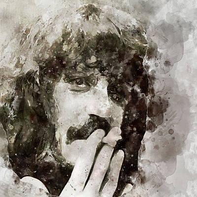 Digital Art - Jon Lord Deep Purple Portrait 4 by Yury Malkov