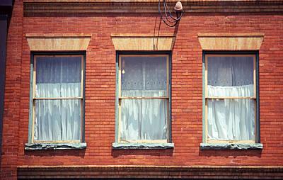 Jonesborough Tennessee Three Windows Art Print by Frank Romeo
