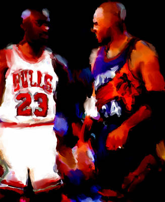 Jordan And Barkley Art Print