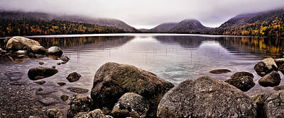 Jordan Pond Art Print by Chad Tracy