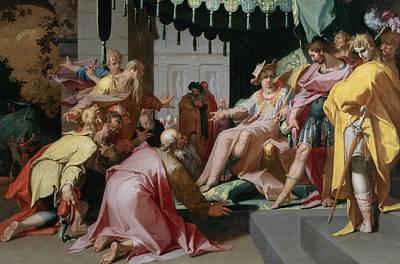 Abraham Painting - Joseph And His Brothers by Abraham Bloemaert