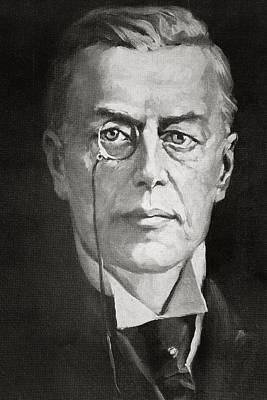Liberal Drawing - Joseph Chamberlain, 1836 by Vintage Design Pics