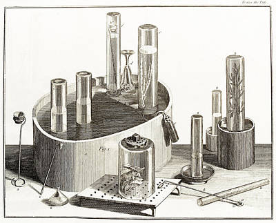 Photograph - Joseph Priestleys Chemical Apparatus by Wellcome Images