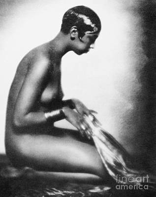African-american Painting - Josephine Baker (1906-1975) by Granger
