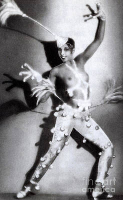 Actress Photograph - Josephine Baker by Stanislaus Walery