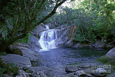 Photograph - Josephine Falls And Tropical Pool by Kerryn Madsen- Pietsch