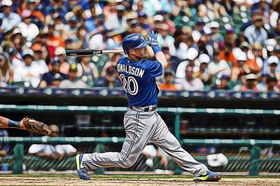 Toronto Blue Jays Mixed Media - Josh Donaldson by Marvin Blaine