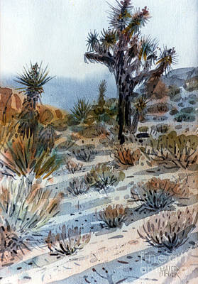 National Park Painting - Joshua Tree by Donald Maier