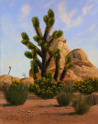 Hiking Painting - Joshua Tree by Mark Junge