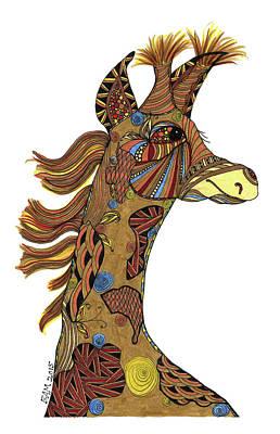 Josi Giraffe Art Print