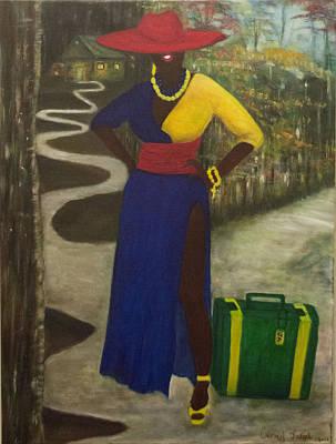 Haitian Painting - Journey by Carmel Joseph