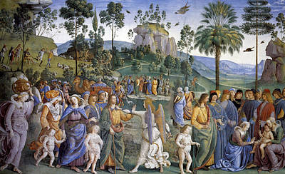 Religion Painting - Journey Of Moses In Egypt by Pietro Perugino