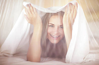 Photograph - Joyful Woman In The Bed by Anna Om