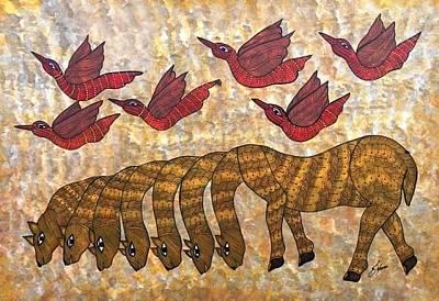 Japani Shyam Painting - Js 139 by Japani Shyam