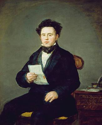 Seated Painting - Juan Bautista De Muguiro by Francisco Goya