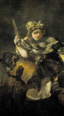 Beheading Painting - Judith And Holofernes by Francisco Goya