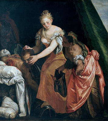 Beheading Painting - Judith And Holofernes by Paolo Veronese