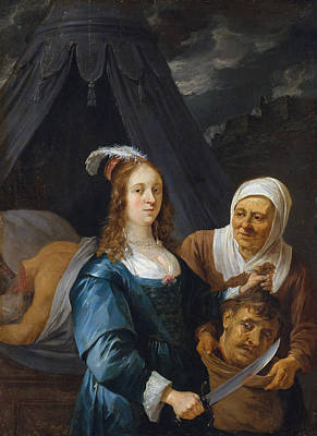 Beheading Painting - Judith With The Head Of Holofernes by David Teniers the Younger