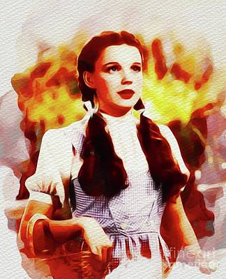 Recently Sold - Fantasy Royalty-Free and Rights-Managed Images - Judy Garland as Dorothy in The Wizard of Oz by Esoterica Art Agency