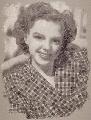 Celebrities Paintings - Judy Garland by Esoterica Art Agency