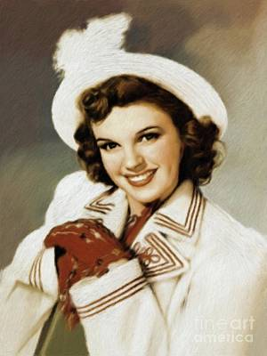 Musician Royalty-Free and Rights-Managed Images - Judy Garland, Vintage Actress by Mary Bassett