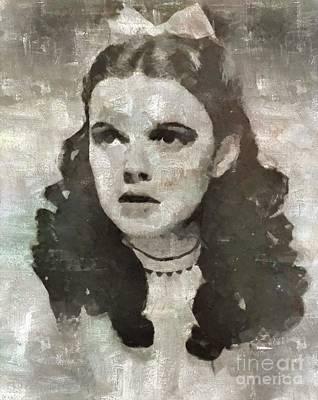 Judy Garland Vintage Hollywood Actress Art Print by Mary Bassett
