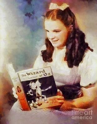 Judy Garland Painting - Judy Garland, Vintage Hollywood Actress by Sarah Kirk