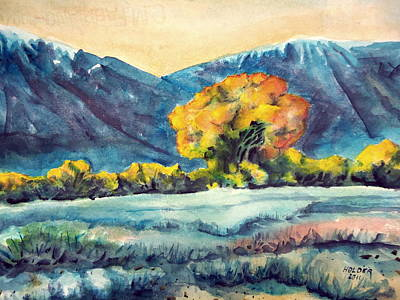 Owens River Painting - Judys Tree by Steven Holder