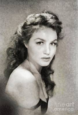 Catwoman Wall Art - Painting - Julie Newmar, Vintage Actress by John Springfield