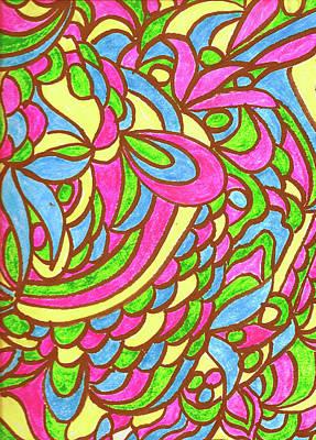 Drawing - Jungle 2 by Wayne Potrafka