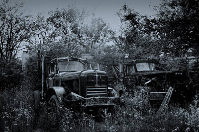 Antique Tow-truck Photograph - Junkyard Dogs II by Off The Beaten Path Photography - Andrew Alexander