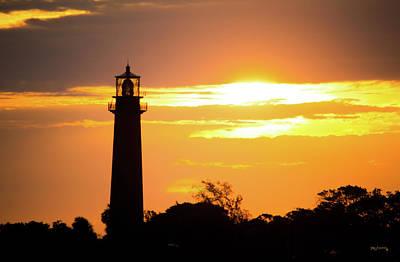 Photograph - Jupiter Lighthouse Golden Sunrise by Ken Figurski