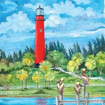 Lookout Painting - Jupiter Lighthouse by Paul Brent