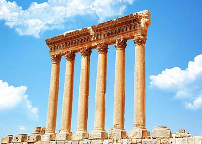 Jupiter's Temple Baalbek Lebanon Art Print by Anna Om