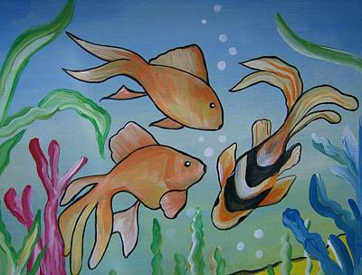 Art Print featuring the painting Just Fishy by Leslie Manley