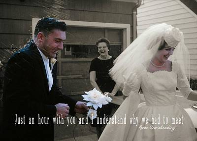 Just Married Quote Art Print by JAMART Photography